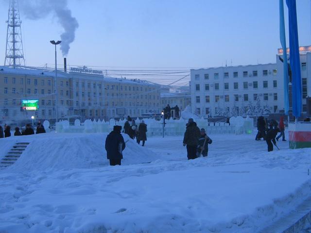 Площадь Ленина. Якутск.
