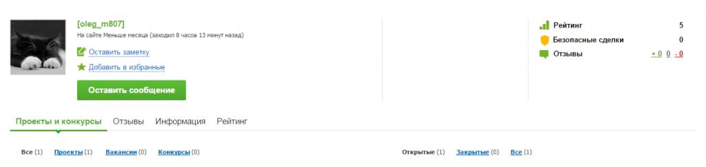 2015-05-31 08-24-18 Заказчик [oleg_m807] - удаленная работа, фриланс, FL.ru — Opera